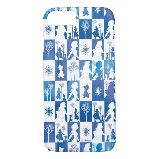 Frozen 2: Anna, Elsa, & Olaf Winter Tile Pattern iPhone 8/7 Case