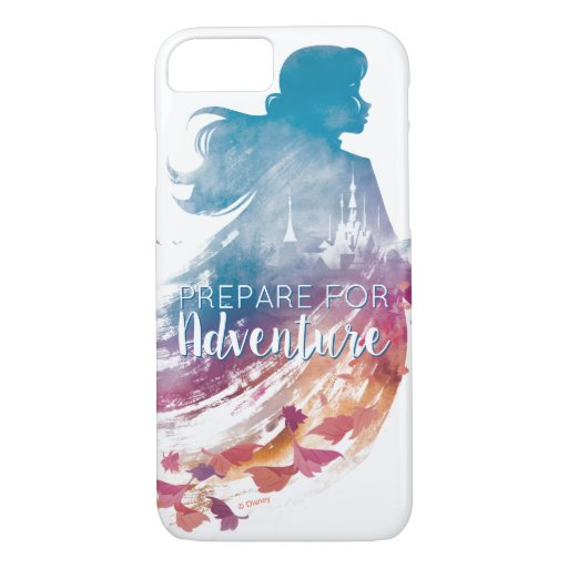 Frozen 2: Anna Watercolor Silhouette iPhone 8/7 Case