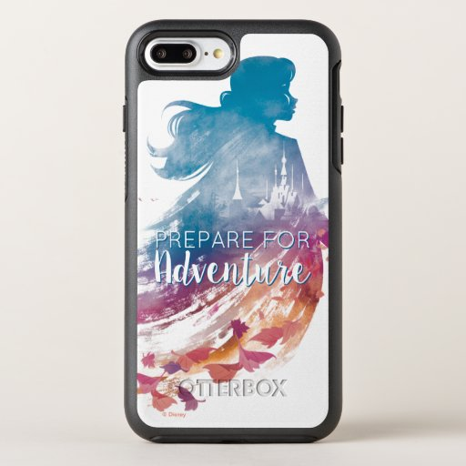 Frozen 2: Anna Watercolor Silhouette OtterBox Symmetry iPhone 8 Plus/7 Plus Case