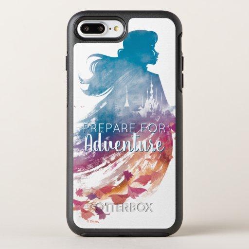Frozen 2: Anna Watercolor Silhouette OtterBox Symmetry iPhone 8 Plus/7 Plus Case