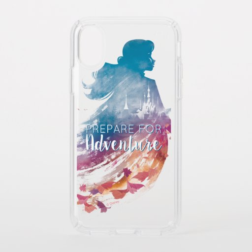 Frozen 2: Anna Watercolor Silhouette Speck iPhone XS Case
