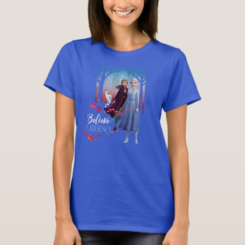 Frozen 2 Elsa Anna  Olaf  Believe T_Shirt