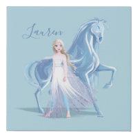 Frozen 2 | Elsa & the Frosted Nokk Faux Canvas Print
