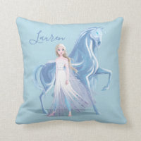 Frozen 2 | Elsa & the Frosted Nokk Throw Pillow