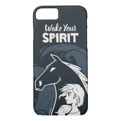 Frozen 2: Elsa & The Nokk Woodcut Graphic iPhone 8/7 Case