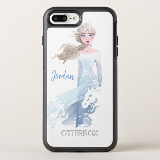 Frozen 2: Elsa Watercolor Illustration OtterBox Symmetry iPhone 8 Plus/7 Plus Case