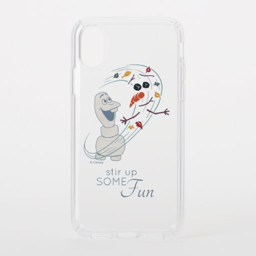Frozen 2: Olaf And The Wind Speck iPhone XS Case