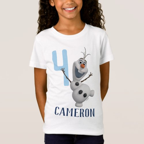 Frozen 2 _ Olaf Birthday _ Name  Age T_Shirt