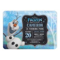 Frozen 2 - Olaf Birthday Party Invitation