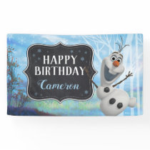 Frozen 2 - Olaf Happy Birthday Banner
