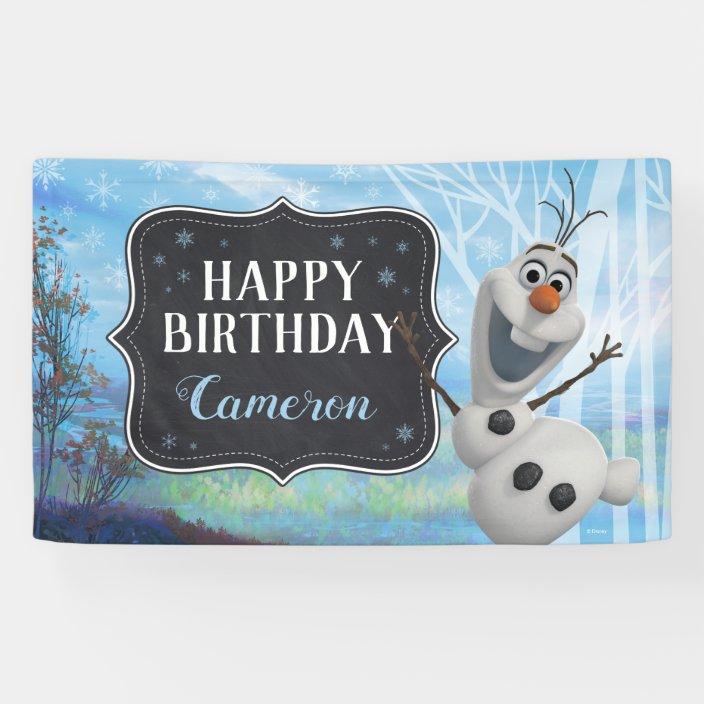 frozen 2  olaf happy birthday banner  zazzle