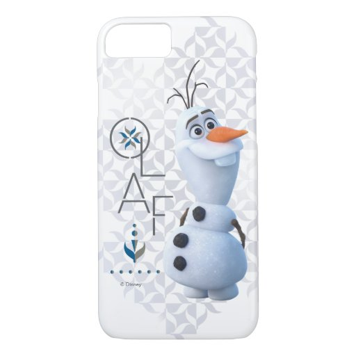 Frozen 2: Olaf With Stylized Name Graphic iPhone 8/7 Case