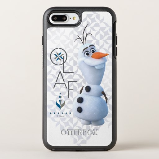 Frozen 2: Olaf With Stylized Name Graphic OtterBox Symmetry iPhone 8 Plus/7 Plus Case