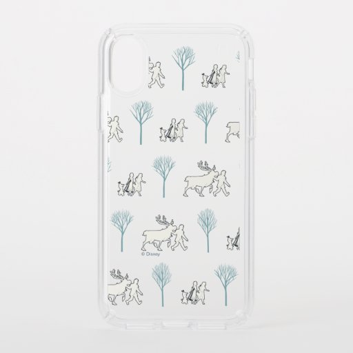 Frozen 2: Walking Through Birch Trees Pattern Speck iPhone XS Case