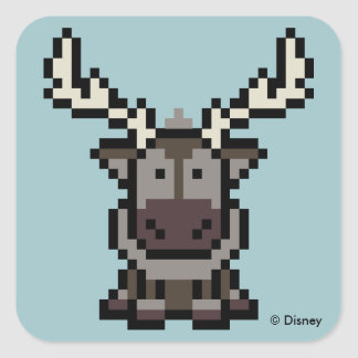 Frozen | 8-Bit Sven Square Sticker