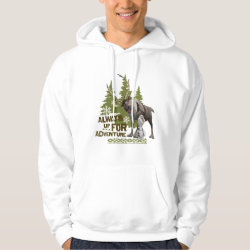 Men's Basic Hooded Sweatshirt with Sven & Olaf - Always Up for Adventure design