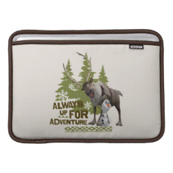 Macbook Air Sleeve with Sven & Olaf - Always Up for Adventure design