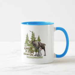 Mug with Sven & Olaf - Always Up for Adventure design