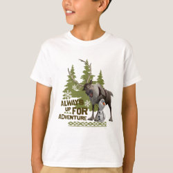 Kids' Hanes TAGLESS® T-Shirt with Sven & Olaf - Always Up for Adventure design