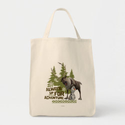 Grocery Tote with Sven & Olaf - Always Up for Adventure design