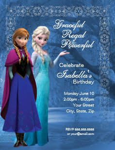 Frozen birthday invitations zazzle frozen anna and elsa snowflake birthday invitation filmwisefo