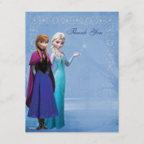 Frozen Anna and Elsa Snowflake Thank You