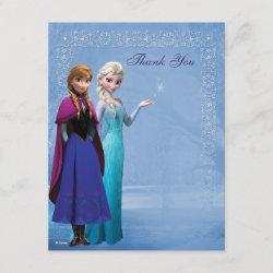 with Frozen's Anna & Elsa design