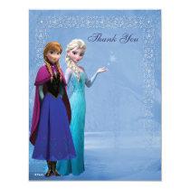 Frozen Anna and Elsa Snowflake Thank You Invitation