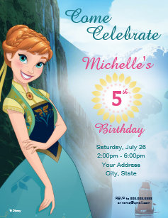 60 off frozen birthday invitations shop now to save zazzle frozen anna birthday party invitation filmwisefo