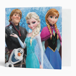 Avery Signature 1' Binder with Frozen's Anna, Elsa, Kristoff & Olaf design