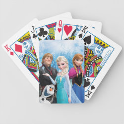 Playing Cards with Frozen's Anna, Elsa, Kristoff & Olaf design