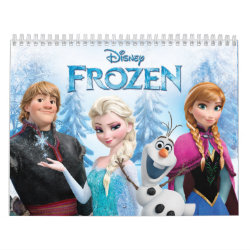 Two Page Calendar with Frozen's Anna, Elsa, Kristoff & Olaf design