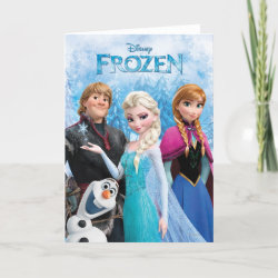 Standard Card with Frozen's Anna, Elsa, Kristoff & Olaf design