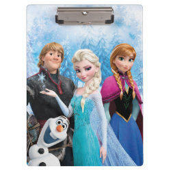 Clipboard with Frozen's Anna, Elsa, Kristoff & Olaf design