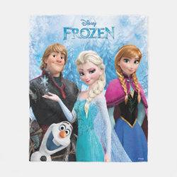Fleece Blanket, 50'x60' with Frozen's Anna, Elsa, Kristoff & Olaf design