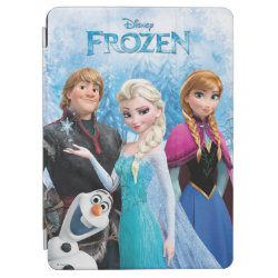 iPad Air Cover with Frozen's Anna, Elsa, Kristoff & Olaf design