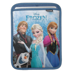 iPad Sleeve with Frozen's Anna, Elsa, Kristoff & Olaf design
