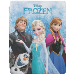 iPad 2/3/4 Cover with Frozen's Anna, Elsa, Kristoff & Olaf design