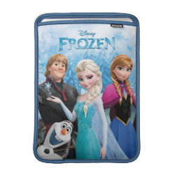 Macbook Air Sleeve with Frozen's Anna, Elsa, Kristoff & Olaf design