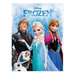 Postcard with Frozen's Anna, Elsa, Kristoff & Olaf design