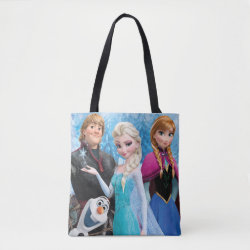 All-Over-Print Tote Bag, Medium with Frozen's Anna, Elsa, Kristoff & Olaf design