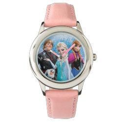 Watch with Frozen's Anna, Elsa, Kristoff & Olaf design