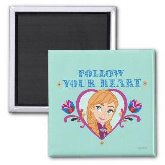 Frozen, Anna Follow Your Heart Fridge Magnet