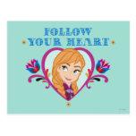 Frozen, Anna Follow Your Heart Post Card