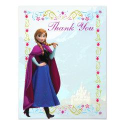 4.25' x 5.5' Invitation / Flat Card with Disney's Frozen Anna design