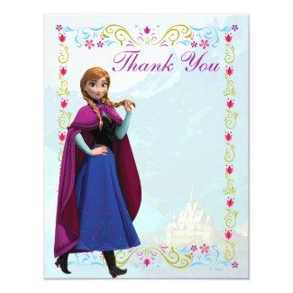 Frozen Anna Thank You 4.25x5.5 Paper Invitation Card