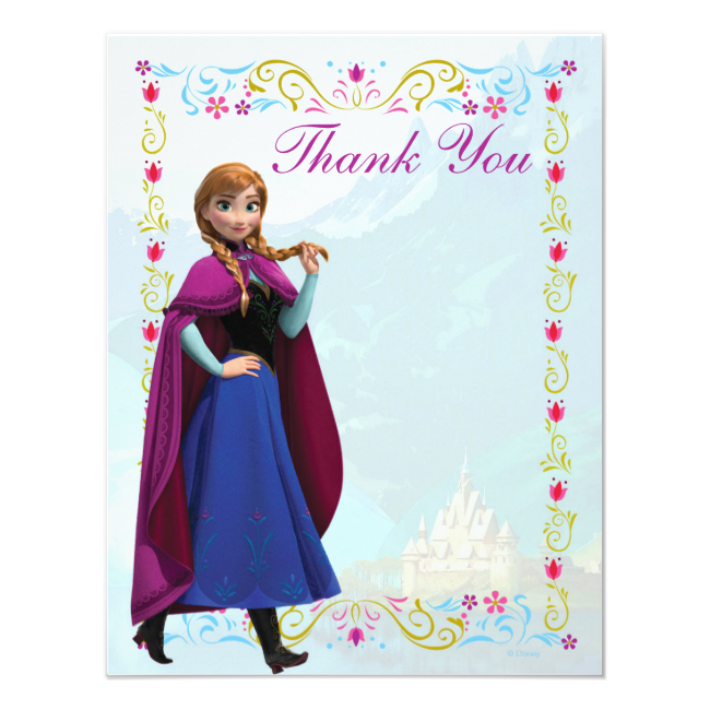 Frozen Anna Thank You Personalized Invitation