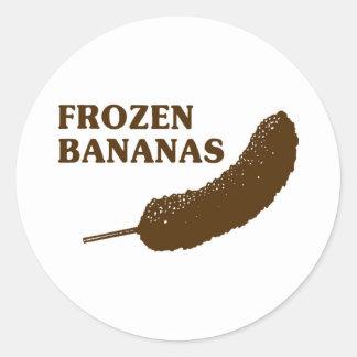 Frozen Bananas Classic Round Sticker