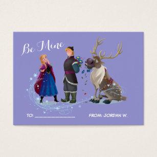 Disney business cards templates zazzle frozen be mine 100pk card colourmoves