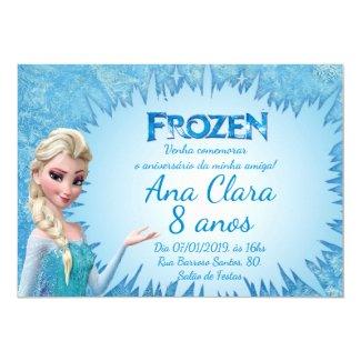 Frozen Birthday Invitations| Front and Back Invitation